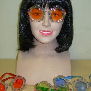 Hippy flower glasses