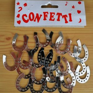 Horseshoe table confetti