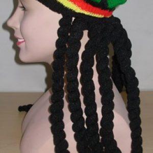 Rasta hat with dreads