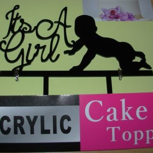 Baby shower cake decor