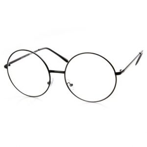 Clear round eye glasses