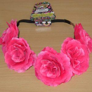 Pink flower headdress