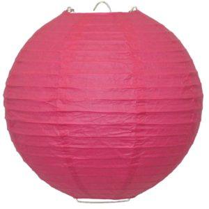 Dark pink paper lantern