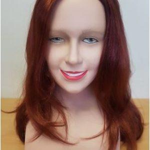 Auburn layered wig