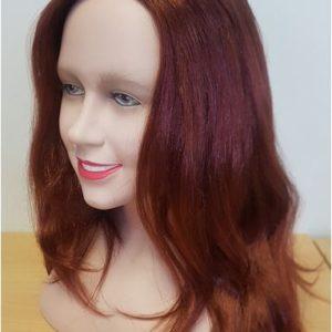 Auburn wig side view