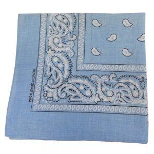 Light blue bandanna