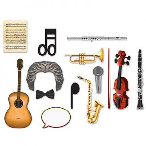 Music photo props