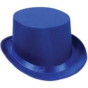 Blue satin top hat