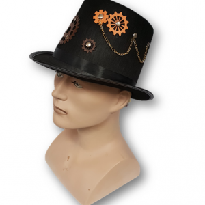 Steampunk top hat with chain