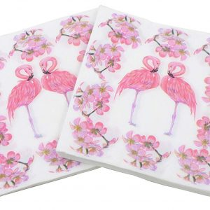 Flamingo themed napkins