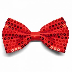 Red sequin bow-tie