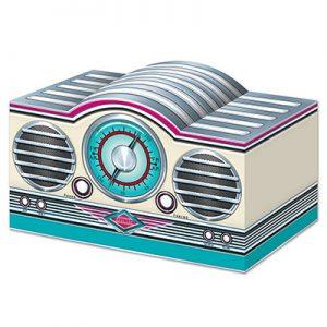 Rock & roll radio table decoration