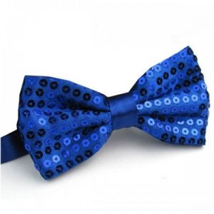 Blue sequin bowtie