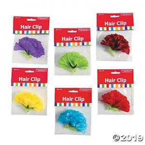 Fiesta flower hair clips