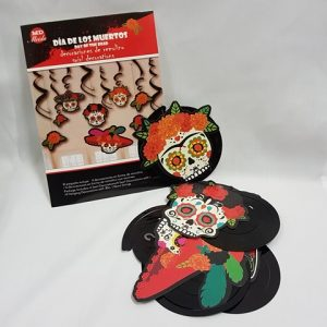 Day of the Dead swirl decorations