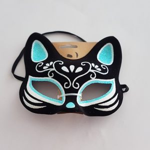 Glitter cat mask Day of the Dead style