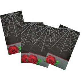 Gothic rose napkins