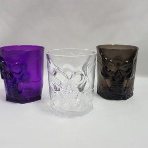 Plastic skull tumblers