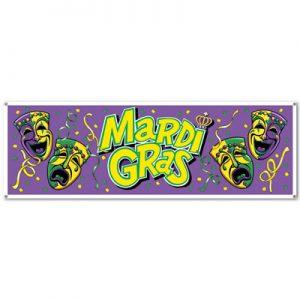 Mardi Gras carnival sign