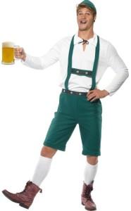 Oktoberfest Lederhosen Green