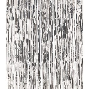 Silver door curtain