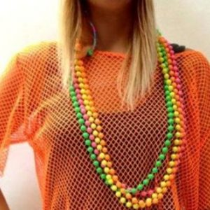 80's neon beads