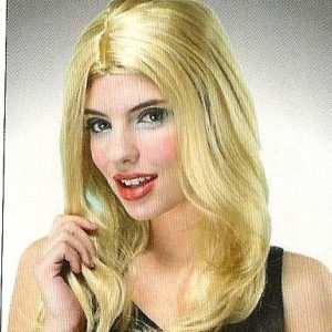 Blonde wig layered hair