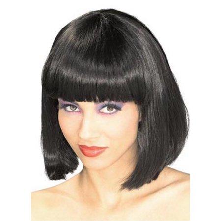 Black bob wig