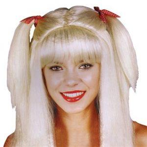 Blonde pigtail wig