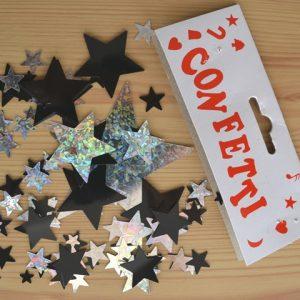 Star confetti table decor