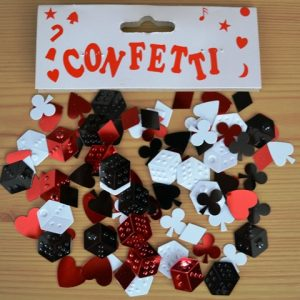 Card suit confetti