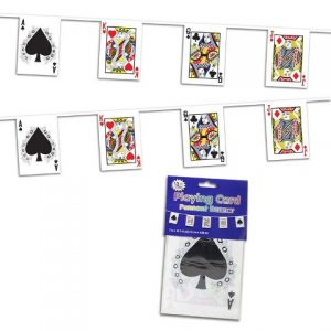 Card banner casino decor