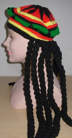 Rasta hat with dreads