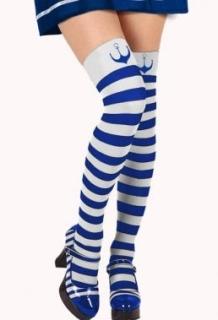 Blue & white strip stockings