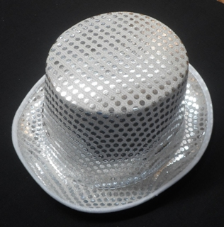 Top hat – silver sequin – Code  268 – Scalliwags 31935bcf19a