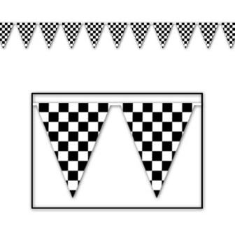 Black & white check bunting
