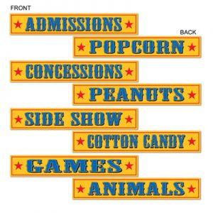 Circus themed decor