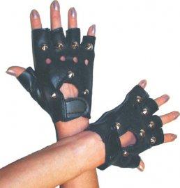 Studded punk gloves