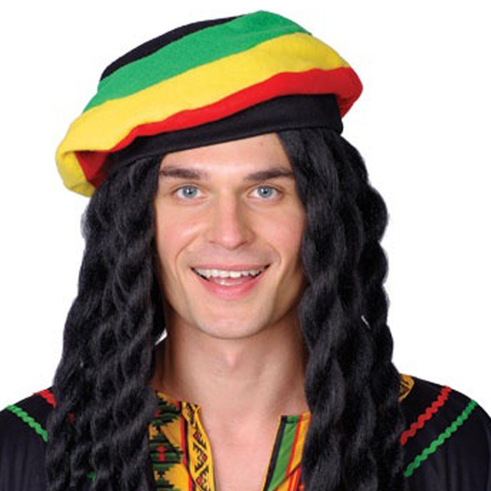 86941886d1f Rasta braids with beret – Code  2353 – Scalliwags Costume Hire