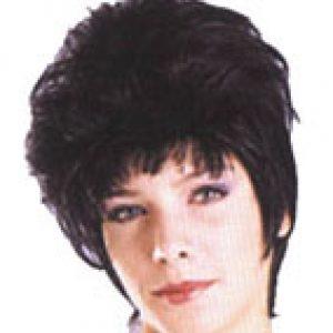 Black short styled wig