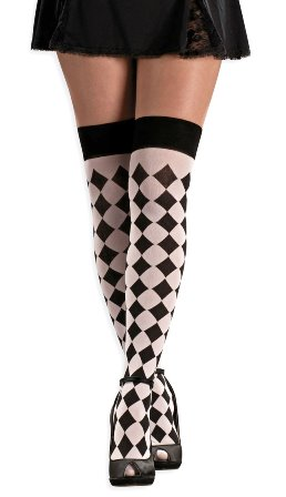 Harlequin style stockings