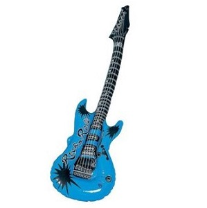 Inflatable rock guitar blue