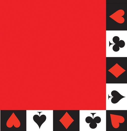 Casino card napkins