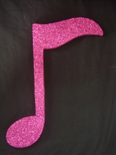 Music note decorations