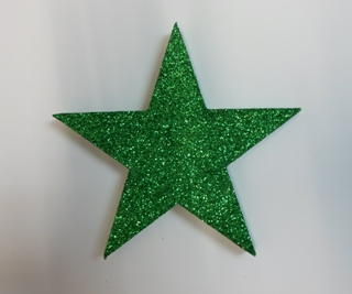 Star decor green glitter
