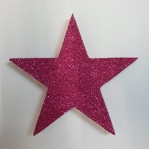 Polystyrene decor pink star
