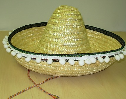 069b5df787009 Mexican sombrero with pom poms – Code  4533 – Scalliwags Costume Hire