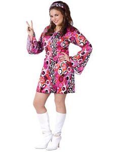 Ladies plus size hippie costume