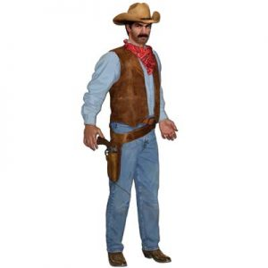 Cowboy cut out