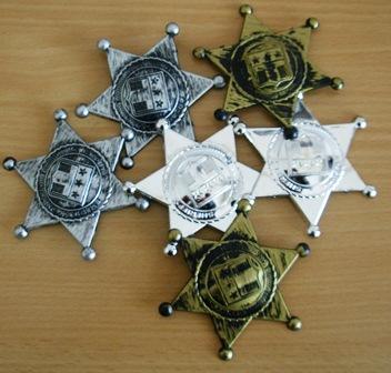 Western sheriff badges